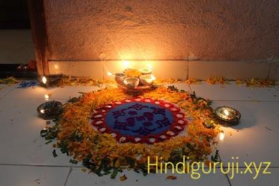 diwali celebration rangoli