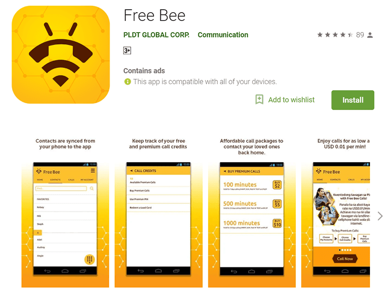 Filipinos abroad can now call for FREE via PLDT, Smart, Sun, or TNT via Free Bee app!