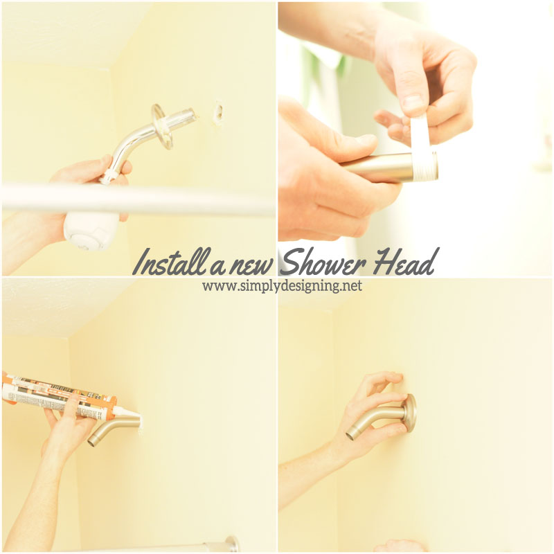 Install a New Shower Head | #diy #bathroom #bathroomremodel #remodel