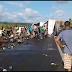 Motorista tenta se livrar de assalto e tomba carreta na Br-226 entre Grajaú e Barra do Corda