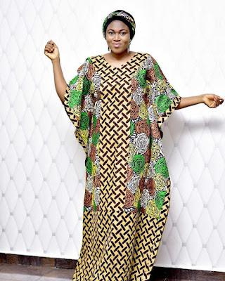 ankara long gown