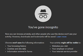 Incognito browsing mode of Google Chrome