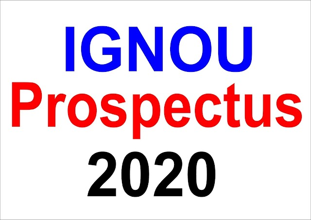 IGNOU Prospectus 2020