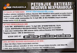 Cara Aktivasi Nex Parabola