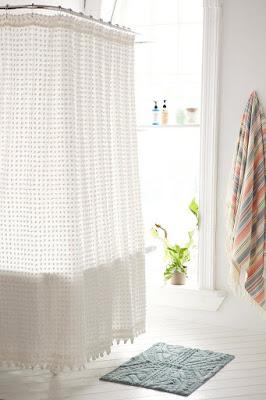 Simple shower curtain for bathroom