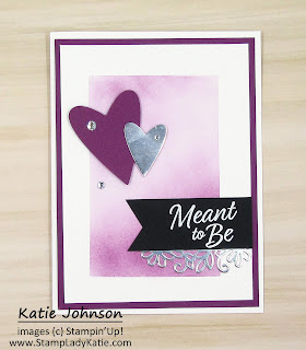 Made with Stampin'Up!'s Meant to Be stamp set and Be Mine Stitched Dies this card can be for Valentine's Day or a wedding or anniversary