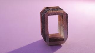 how to make money 3d origami alphabet O tutorials hướng dẫn cách gấp chữ O bằng tiền giấy