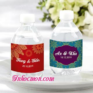 nhãn dán chai nước