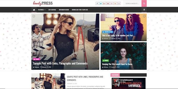 Share Blogger Template Beauty Press Premium Version
