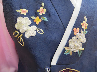 traditonal Korean Hanbok decoration - flowers
