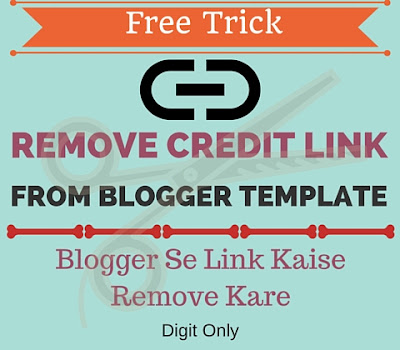 how to remove footer link from the blogger template