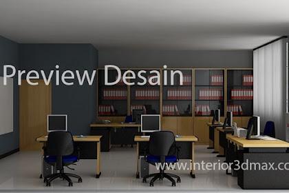 Jasa design 3dmax interior office minimalis tanpa DP