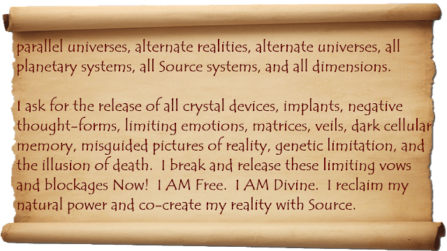 Break soul contracts, Ancestral Agreements, Energetic blocks, and release karma