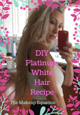 diy platinum white hair. purple shampoo. diy silver hair.