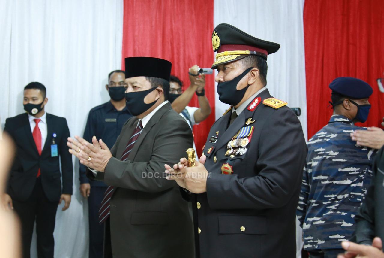 Gubernur Lampung Arinal Djunaidi menghadiri  upacara Hari Bhayangkara ke-74 (secara virtual)