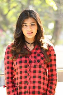 Actress Hebah Patel Stills in Blue Denim Jeans at Nanna Nenu Naa Boyfriends Movie Success Meet  0018.JPG