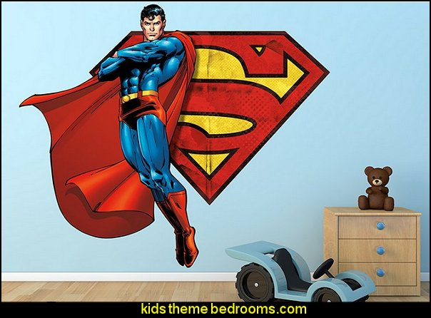 Superman Flying with Symbol Wall Decal