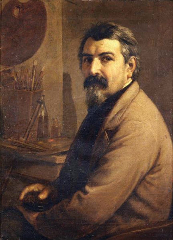 Giovanni Antonio Guadagnini, Self Portrait, Portraits of Painters, Fine arts, portraits of painters blog, Painter Giovanni Antonio Guadagnini