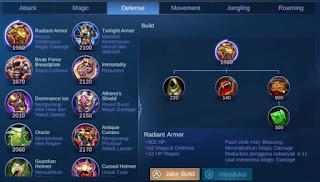 Penjeleasan Item Radiant Armor Mobile Legend dan Kegunaannya