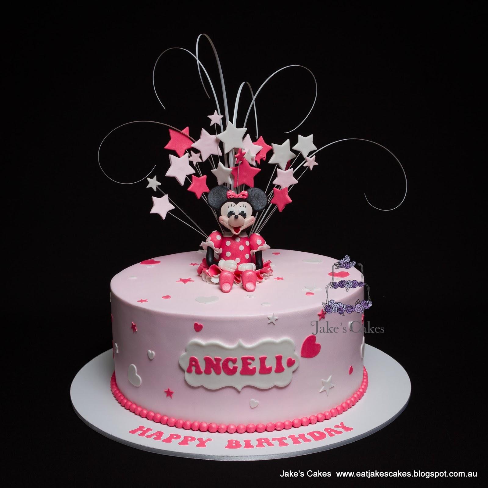 Pink Stars Little Girls Cake