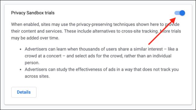 الانسحاب من Google Chrome Privacy Sandbox