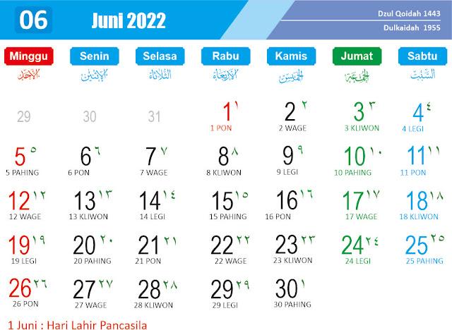 Kalender Juni 2022 - Kanalmu