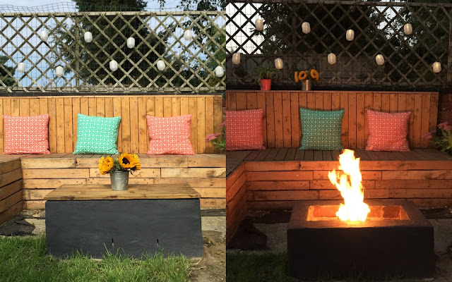 building a fire pit with seating