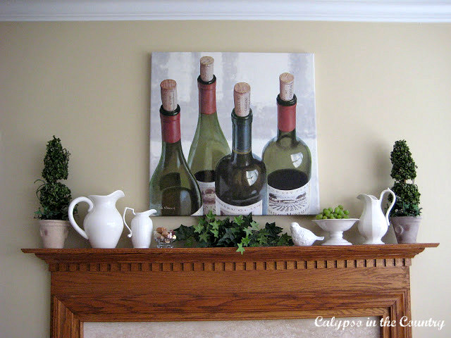 Wine Country Mantel