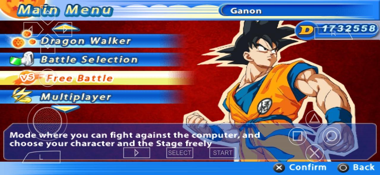 Dragon Ball z Kakarot Mod PSP ISO Download