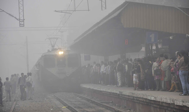 Fog continues, trains affected, 24 trains delayed, 4 canceled, changed at 3