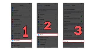 طريقة أخذ لقطة لشاشة آيفون iPhone من خلف الجهاز