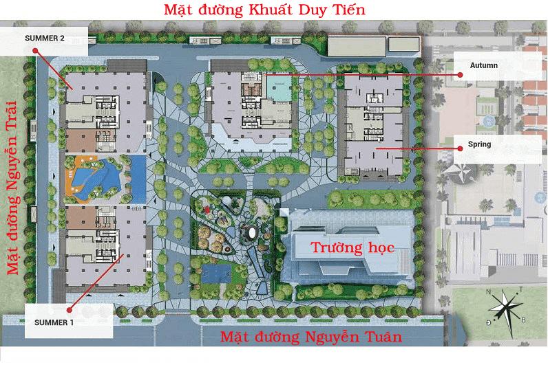 Quy mô tổng thể dự án GoldSeason 47 Nguyễn Tuân