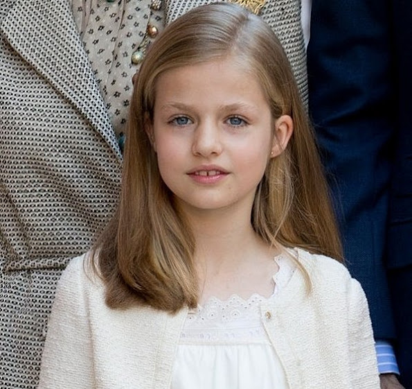 The Princess of Asturias, who celebrates her tenth birthday, has been awarded the Order of the Golden Fleece