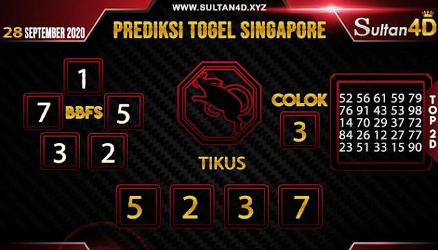 PREDIKSI TOGEL SINGAPORE SULTAN4D 28 SEPTEMBER 2020