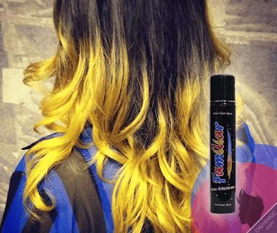 Hình ảnh keo xịt tóc màu familiar yellow ( vàng )