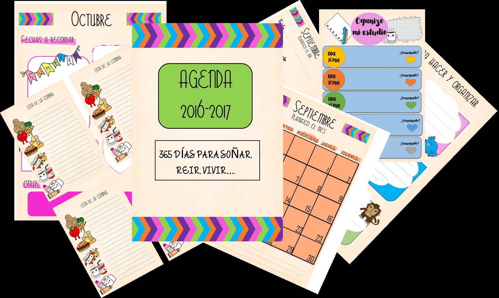 My life agenda 2016 2017 imprimible y editable - Agenda imprimible 2017 ...