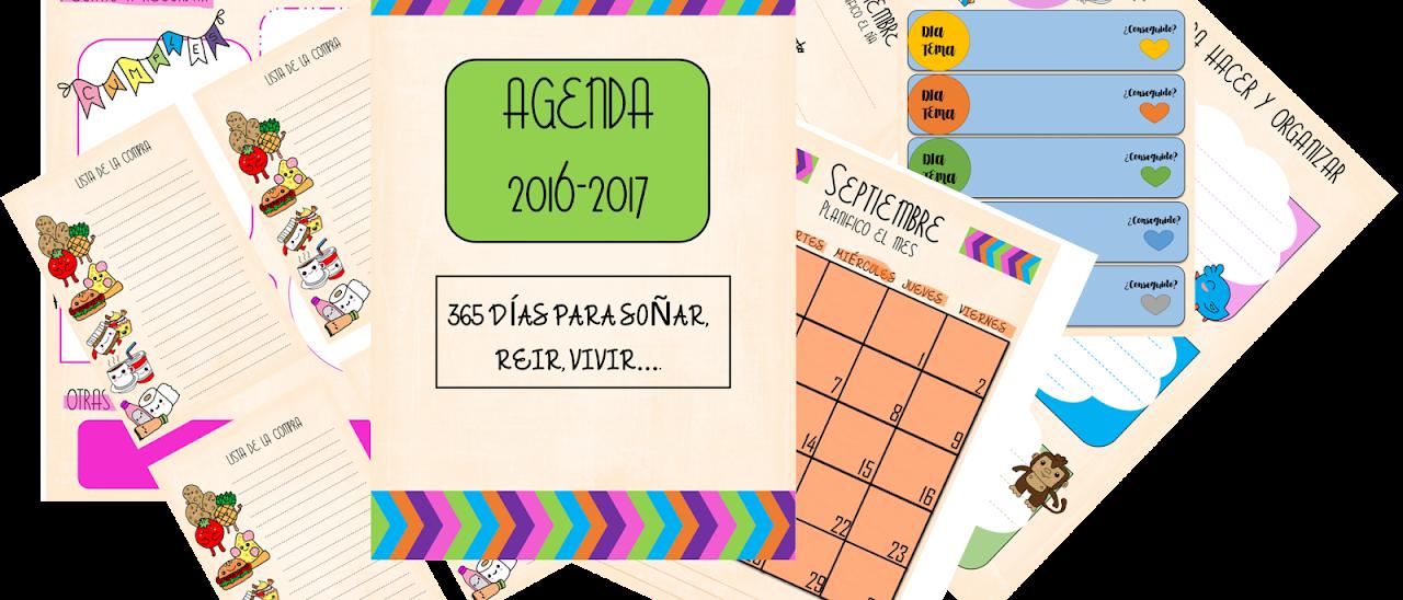 AGENDA 2016-2017 IMPRIMIBLE Y EDITABLE