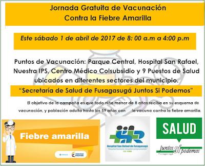 Jornada Gratuita de Vacunación Contra la Fiebre Amarilla