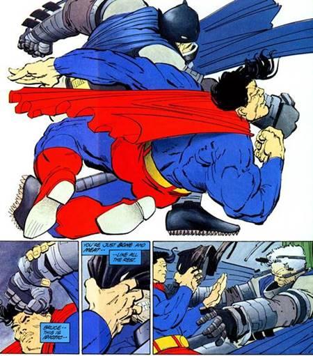 El combate entre Superman y Batman en The Dark Knight Returns