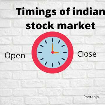 Stock Market Timings in India.