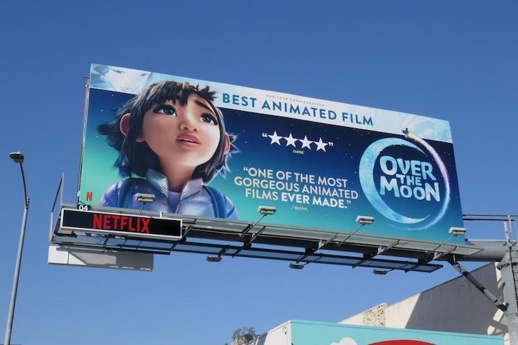 Over the Moon movie FYC billboard