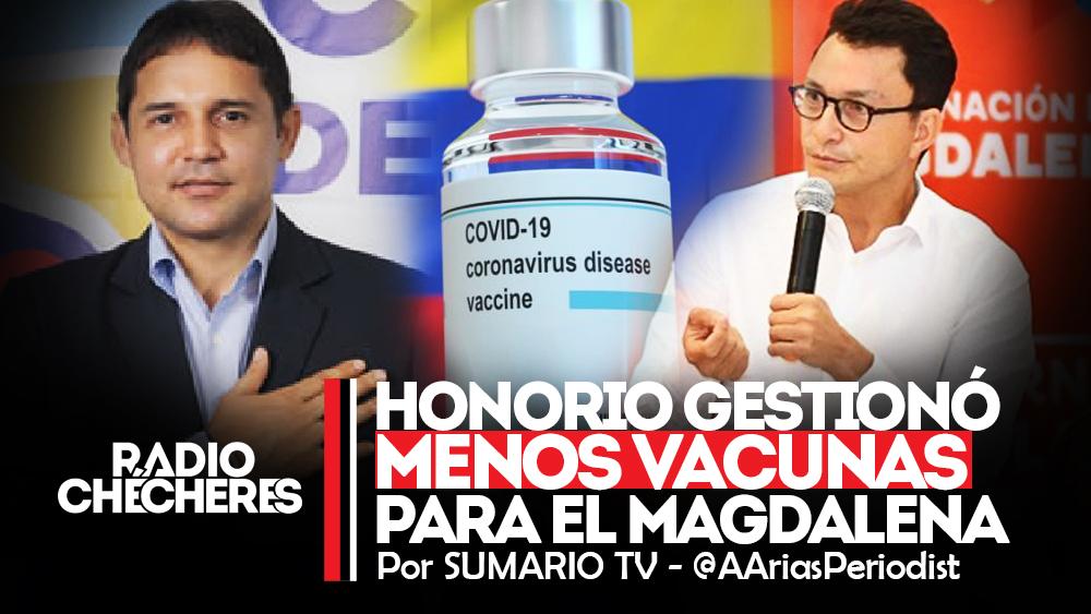 Por perjudicar imagen de Caicedo, Honorio Enríquez gestionó menos vacunas para el Magdalena