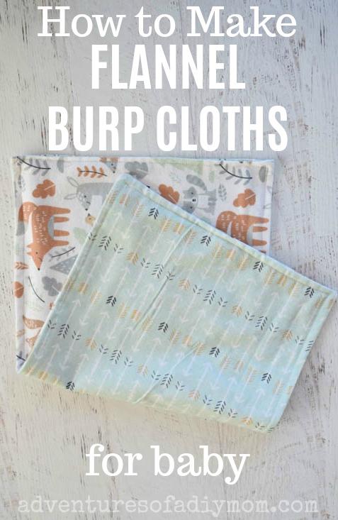 Diy Burp Cloths Adventures Of A Diy Mom