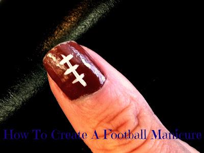 Photo of football nail art