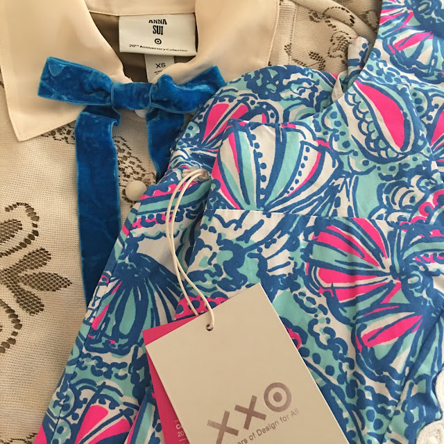 Target 20 Anna Sui lace dress and Lilly Pulitzer my fans dress