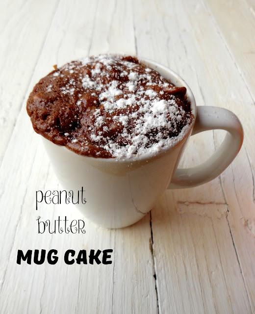 Mug Cake Peanut Butter Chocolate