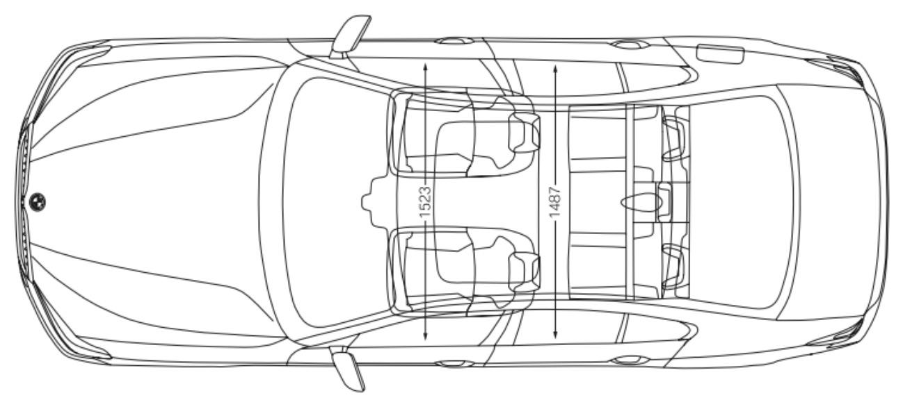 schema disegno tecnico misure e dimensioni interni bmw serie 5 2017