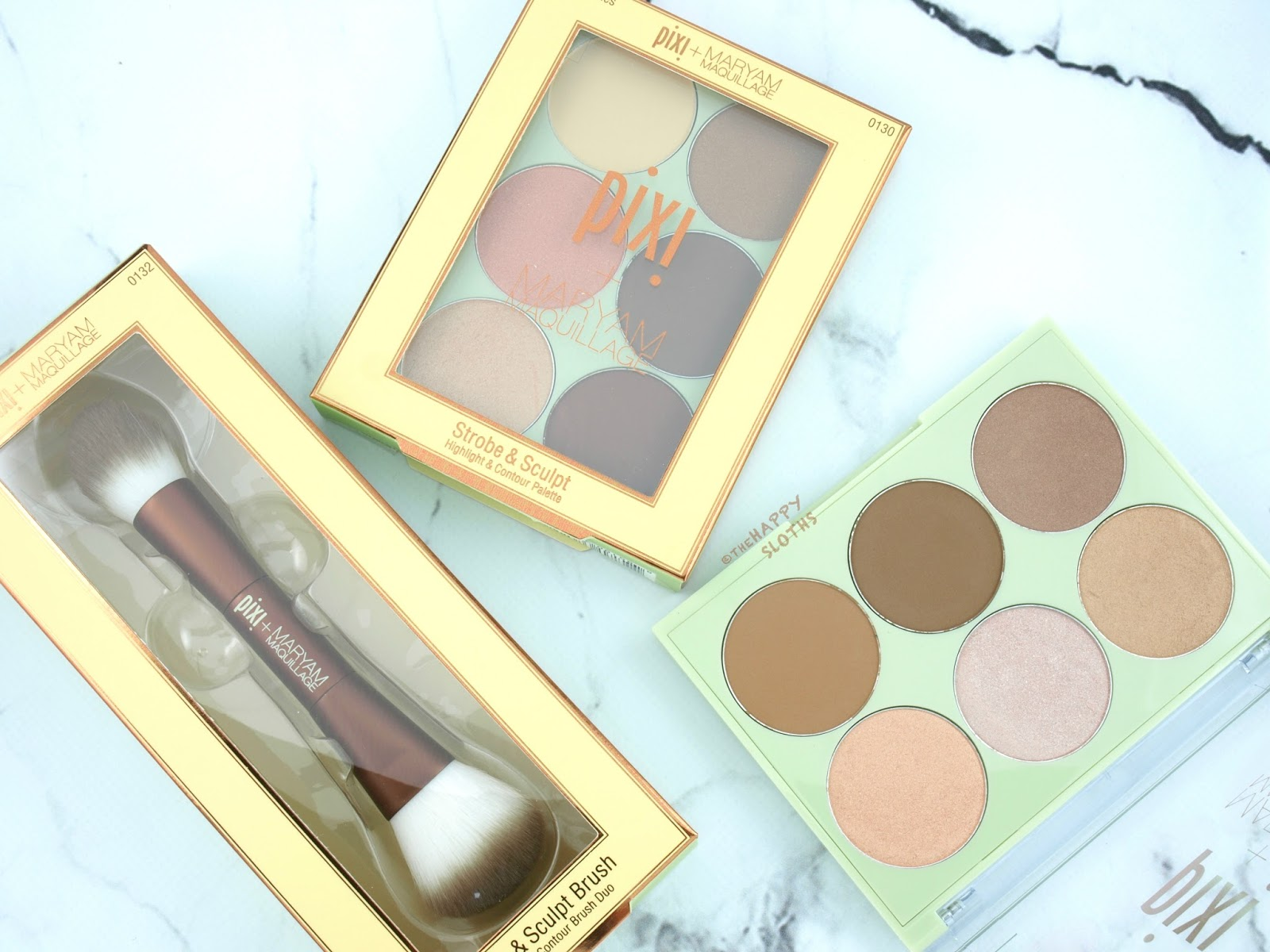 Pixi + Maryam Maquillage Collaboration | Strobe & Sculpt + Strobe & Bronze Palettes: Review and Swatches