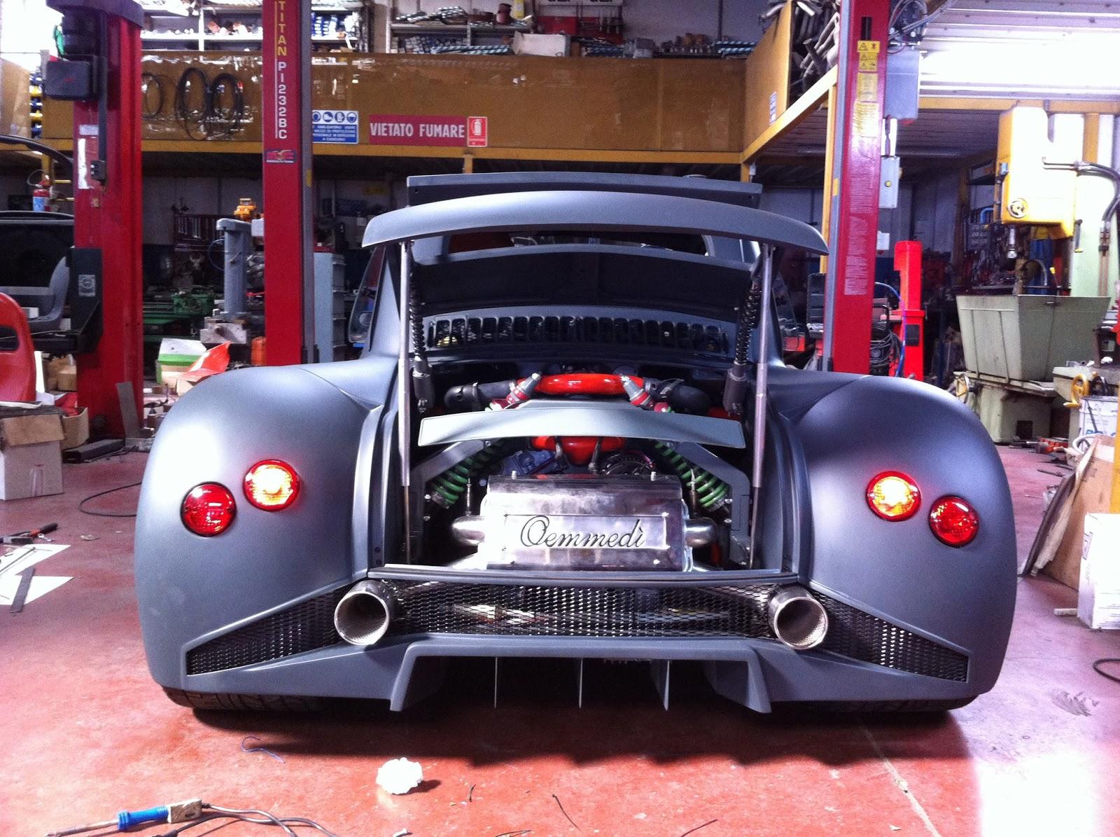Davide458italia Fiat 500 V12 By Oemmedi Meccanica