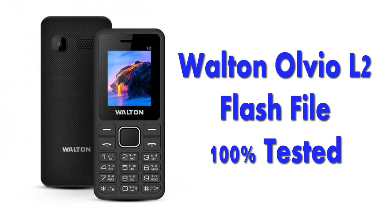 Walton L2 Flash File Stock Firmware ROM. It's a tested bin file for your feature mobile phone